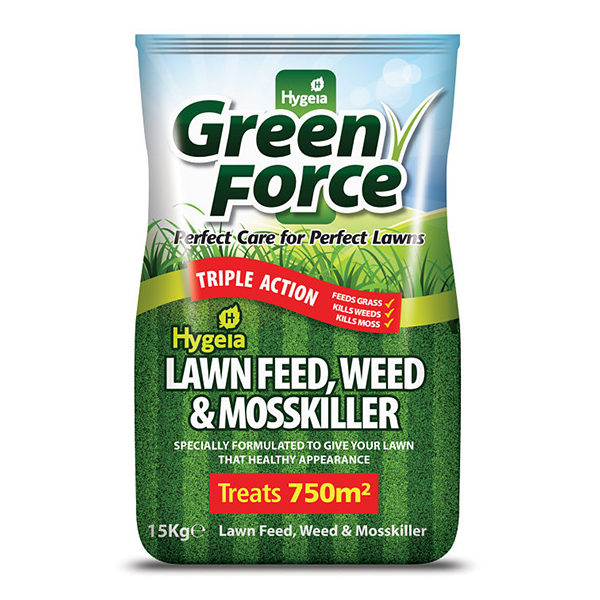 lawn feed, weed & mosskiller